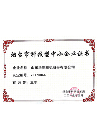 8.Certificate of Small and Medium Size Scientific and Technological Enterprise